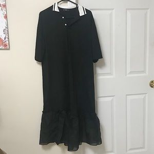 New t-shirt dress with ruffle at the bottom